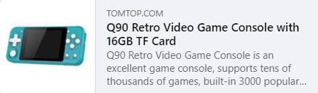 Q90 Retro Video Game السعر: 26.99 دولارًا